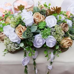 Esküvői asztaldísz, Esküvő, Asztaldísz, Dekoráció, Mindenmás, Virágkötés, Meska