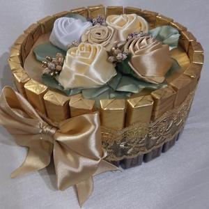 Merci torta, egyedi,különleges, Otthon & Lakás, Dekoráció, Csokor & Virágdísz, Virágkötés, Mindenmás, Bármilyen alkalomra elkészítem igény szerint.Ballagásra,szülinapra,névnapra,köszönő ajándéknak is gy..., Meska