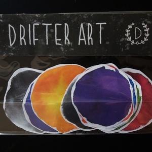 Matricacsomag-vízfesték (Sticker set-watercolor), Falmatrica & Tapéta, Dekoráció, Otthon & Lakás, Papírművészet, Fotó, grafika, rajz, illusztráció, 10 darabos matricacsomag. A matricák felülete matt, ezért bármilyen tollal, vagy ceruzával lehet ráj..., Meska