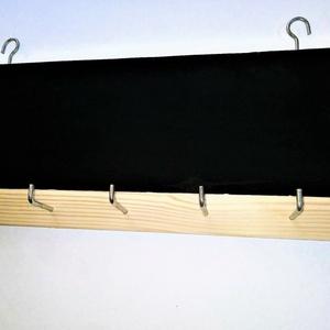 Fali kulcstartó táblafestékkel, Otthon & Lakás, Lakberendezés, Famegmunkálás, Kreatív és egyedi fali kulcstartó, amely táblafesték rétegének köszöhetően krétával írható rá üzenet..., Meska