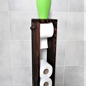 Wc papír tartó kisszekrény - tároló, Otthon & Lakás, Fürdőszoba, Fürdőszobai tároló, Famegmunkálás, Praktikus és hasznos eleme a fürdőszobának, wc helységnek.\n\nA képen szereplő kisszekrény méretei:\nMa..., Meska