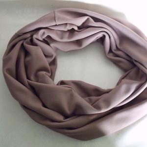 Tejeskávé színű   körsál (dzsemo) - Meska.hu