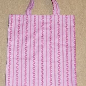 Bevásárlótáska, Táska & Tok, Bevásárlás & Shopper táska, Shopper, textiltáska, szatyor, Varrás, Bevásárlótáska lila-rózsaszín  színekkel, vászon anyagból.\nErős,praktikus darab.\nBéleletlen. \nKicsir..., Meska