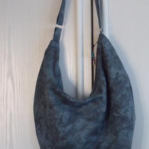Kékeszöld márvány mintás hobo táska (dzsemo) - Meska.hu