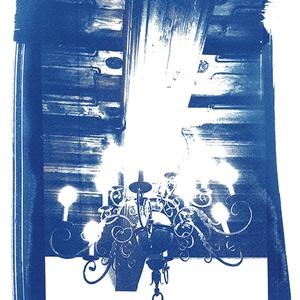 Csillár - napnyomatról készült, giclée print, Művészet, Művészi nyomat, A soproni Storno-ház egyik csodaszép csillárjáról készült az eredeti cianotípiám, amelyről kiváló mi..., Meska