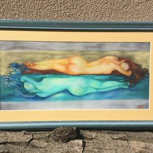 Tükörkép, Művészet, Művészi nyomat, Festészet, A kép digitális festményemből készült számozott (1/30) Giclée nyomat művészpapíron. A festmény a kép..., Meska
