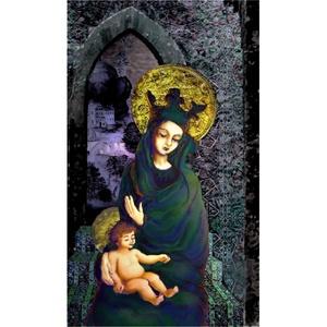 Madonna, Képzőművészet, Grafika, Fotó, grafika, rajz, illusztráció, Mária a gyermek Jézussal.  Digitális grafika. Mérete: 30x50 cm Limitált széria: max. 10 Keret nélkü..., Meska