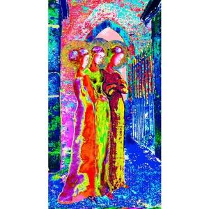 Gráciák2, Képzőművészet, Grafika, Fotó, grafika, rajz, illusztráció, Digitális grafika. Mérete: 32x48 cm, felbontása 150 dpi Limitált széria: max. 10 db keret nélküli, Meska