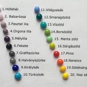 Pötty fülbevaló - üveg - szilikonos hátsó rész - antiallergén alap - választható színek - jól variálható más ékszerrel (Edian) - Meska.hu