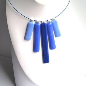 Pálcika nyaklánc - szabadon variálható egyedi színek - megrendelés szerint - 3 méretű pálcika - színes sodrony lánc , Ékszer, Medál, Nyaklánc, Az első képen látható  nyaklánc 3 színű és 3 méretű egymástól független medálként is használható öss..., Meska