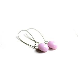 Lógós üveg fülbevaló - city stílus - választható színek - variálható a ruhatáraddal - hétköznap és ünnepnap egyaránt (Edian) - Meska.hu