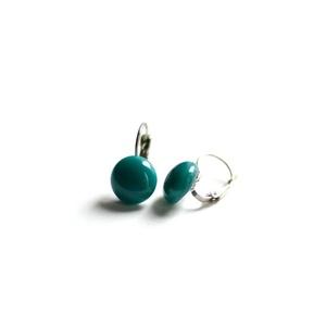 Kapcsos üveg fülbevaló - francia stílus - variálható a ruhatáraddal - hétköznapi és ünnepnapi viselet egyaránt, Ékszer, Egyéb, Fülbevaló, Medál, Az első képen látható francia kapcsos fülbevaló melynek az üvegpötty része 1,2 cm átmérőjű. Antialle..., Meska