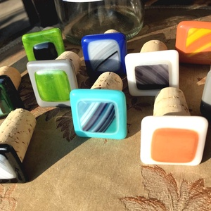 Palack dugó üveg felsőrész - férfiknak jó ajándék - színes - egyedi - különleges - szokatlan meglepetés - parafa talp (Edian) - Meska.hu