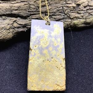 BETON nyaklánc #8 - téglatest alakú - ásvány - fém lánc - különleges ékszer -ajándék célra vagy saját részre is (Edian) - Meska.hu