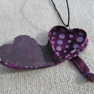 Szív alakú dobozka, medál (Ediba) - Meska.hu