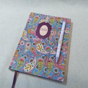 A/5 Cseppmintás, tollas határidő napló, Otthon & lakás, Naptár, képeslap, album, Naptár, Fotó, grafika, rajz, illusztráció, Könyvkötés, Méretek: 14 x 20 cm. heti beosztású határidő napló, melynek az oldalait kézzel rajzoltam, terveztem...., Meska