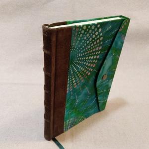 A/5 Zöld , félbőrös, patentos napló (Ediba) - Meska.hu