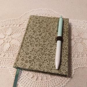 A/6 Zöld leveles , tollas notesz , Otthon & Lakás, Papír írószer, Jegyzetfüzet & Napló, Könyvkötés, Meska