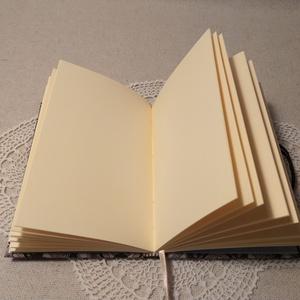A/6 Barna-kék mintás, kampós notesz - otthon & lakás - papír írószer - jegyzetfüzet & napló - Meska.hu