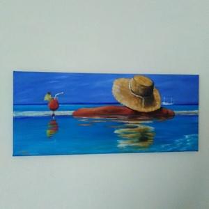 Koktél, Akril, Festmény, Művészet, Festészet, 25X58 cm festmény, Meska