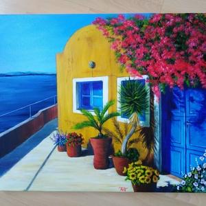 Görögország, Művészet, Festmény, Akril, Festészet, 50 x 60 cm akril festmény, Meska
