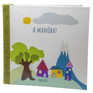 Kreatív mesekönyvek gyűjtőmappa , Játék & Gyerek, Készségfejlesztő & Logikai játék, Könyvkötés, Bőrművesség, Ez a szépséges, bőrrel erősített gerincű mappa, a saját tervezésű és készítésű mesekönyvecskéimhez, ..., Meska