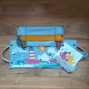 Bőr táska alkotó gyerekeknek utazáshoz, vagy otthoni rendezéshez, mesecsomaghoz (EditDobos) - Meska.hu