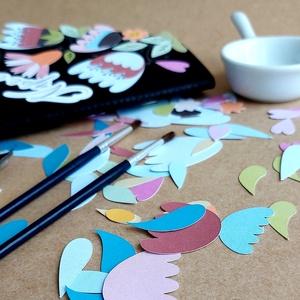 Tulipános díszítő készlet DIY scrapbook, DIY (Csináld magad), Egységcsomag, Papírművészet, Virágelemek, melyekkel szabadon díszítheted, teheted egyedivé füzetkéid borítóját, vagy akár bejegyz..., Meska