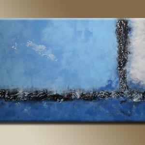 30%OFF Blue Absztrakt, Művészet, Festmény, Akril, Festészet, Blue Absztrakt feszített vásznon.\nAzonnal falra akasztható, nem igényel keretezést.\nMéretei: 50x80 c..., Meska