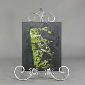 Zöld Modern Abstract, Művészet, Festmény, Napi festmény, Festészet, A festmény kasírozott vászonra készült.\nA festmény mérete 20x25 cm.\nStandard keretben vagy képtartób..., Meska