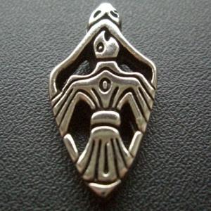 Hun-Sólyom medál, Ékszer, Nyaklánc, Medál, Hun-Sólyom  A talizmán hun sólymot ábrázol egy nyílhegy formában. A sólyom az erő, a gyorsaság, a ha..., Meska