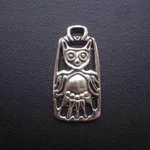 Bagoly medál , Ékszer, Nyaklánc, Medálos nyaklánc, Bagoly     Bagolyábrázolás Magna-Hungáriából. Az ősi bölcsesség jelképe.  Az Univerzumban minden for..., Meska