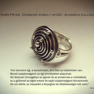 Domború égbolt gyűrű. Az Alkimista kollekcióm darabja (egszeresz) - Meska.hu