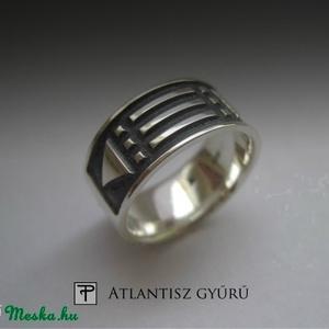 ÚJDONSÁG! Atlantisz ezüst gyűrű (egszeresz) - Meska.hu