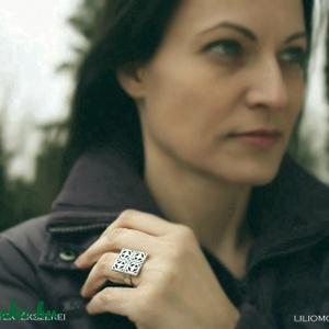 Nagy liliom ezüst gyűrű (egszeresz) - Meska.hu