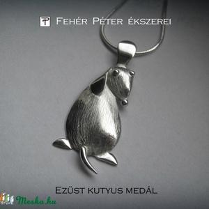 Kutyus, kutya medál ezüstből. Teljesen saját tervezésű és készítésű (egszeresz) - Meska.hu