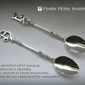 Egyedi monogramos ezüst kanál (egszeresz) - Meska.hu