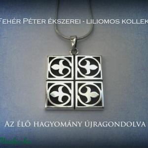 Liliom medál 925-ös ezüstből (egszeresz) - Meska.hu
