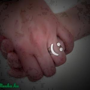 Egyedi ezüst smile, mosolygó, mosolygós gyűrű (egszeresz) - Meska.hu