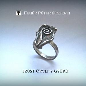 Ezüst örvény gyűrű, Ékszer, Gyűrű, Valami a múltból fel-felmerül, évek koptatta halvány homály.  Fel-felcsillan egy elhagyott sors A je..., Meska
