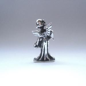Miniatűr harmonikás ezüst angyalka (egszeresz) - Meska.hu