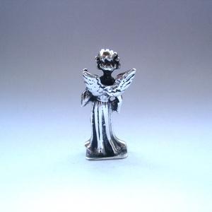 Miniatűr nagybőgős ezüst angyalka (egszeresz) - Meska.hu