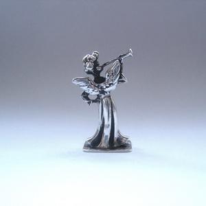 Miniatűr harsonás ezüst angyalka (egszeresz) - Meska.hu