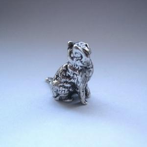 Miniatűr ezüst cica (egszeresz) - Meska.hu