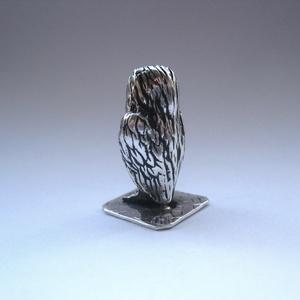 Miniatűr ezüst bagoly (egszeresz) - Meska.hu