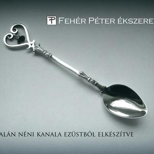 Egyedi készítésű Kalán néni ezüst kanál (egszeresz) - Meska.hu
