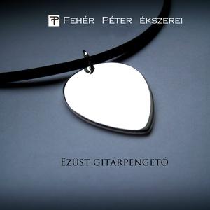 Ezüst gitárpengető, Ékszer, Nyaklánc, Medál, Ezt az ezüst gitárpengetőt egy kisfiúnak készítettem a családban, aki évek óta gitározni tanul és na..., Meska