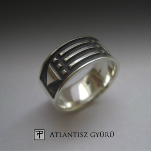 Atlantisz ezüst gyűrű, Ékszer, Gyűrű, Az Atlantisz gyűrű egy nagyon különleges ékszer.  Nem írom le, hogy miért, mert már rengetegen megte..., Meska