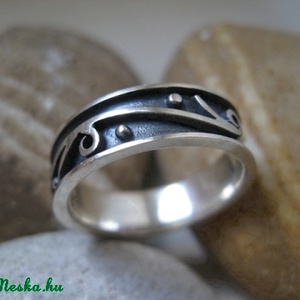 Különleges indás ezüst gyűrű (egszeresz) - Meska.hu