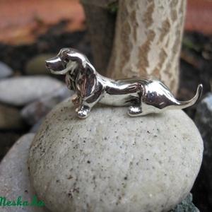 Ezüst tacskó kutya miniatúra (egszeresz) - Meska.hu